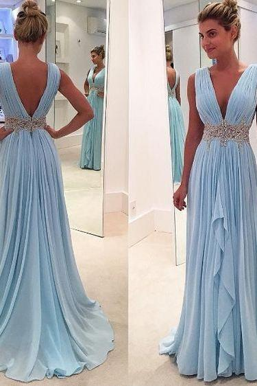 Upd0076, Charming prom dresses, deep V-neck prom dresses, A-line prom dresses, simple prom dresses, cheap prom dresses, for teens
