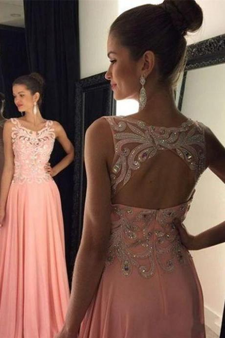 Upd0079, New Arrival, Sexy Prom Dress,modest Prom Dresses,Long Evening Dress,Formal Dress, open back prom dresses, pink prom dresses, custom-made