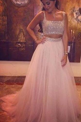 Upd0121, Two Pieces, Beading Prom Dress, Long Prom Dresses, Charming Prom Dresses, Evening Dress, Prom Gowns, Formal Women Dress,prom dress