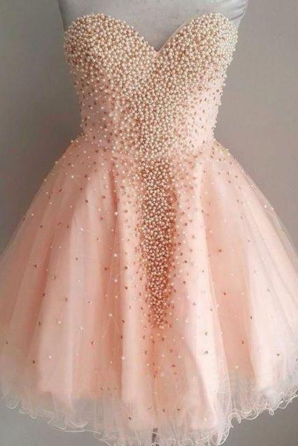 Uhc0026, Pretty Homecoming Dresses,Beading Homecoming Dress,Girly Short Prom Dresses, sweetheart homecoming dresses